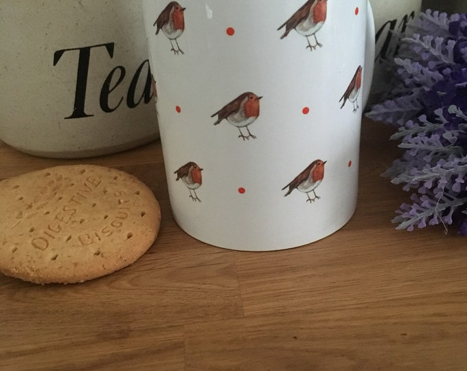 Robin, robins, mug, tea mug, coffee mug, for robin lovers, for tea drinkers, robin gift, robin mug, mug and coaster set