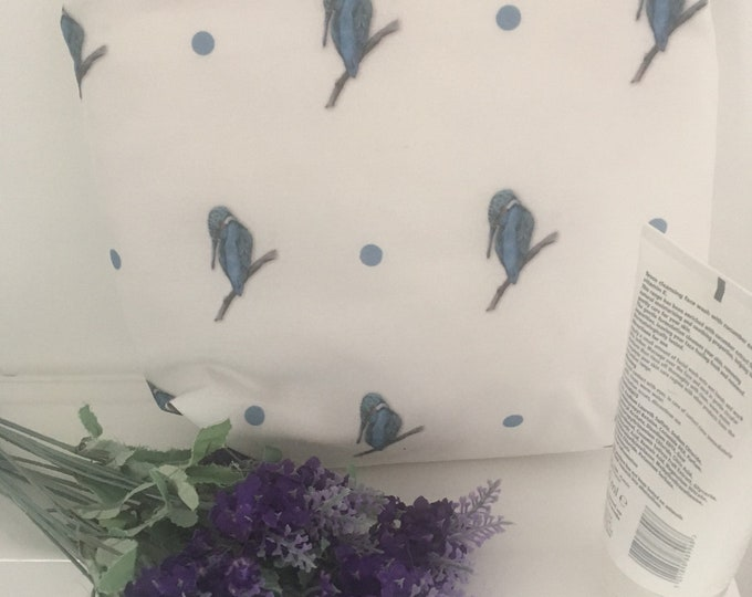 Kingfisher, washbag, toiletries bag, for bird lovers, for kingfisher lovers,  kingfisher gift