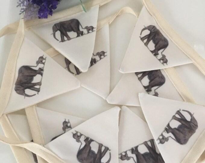 Elephant bunting,garland, for elephant lovers, elephant gift, elephant decor