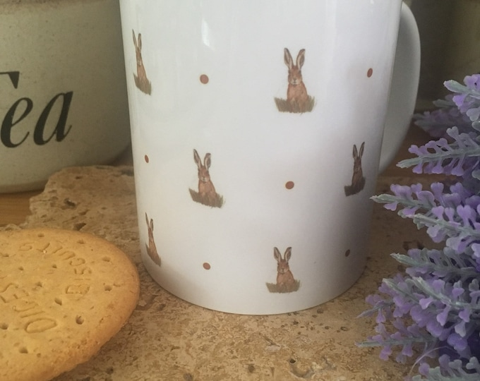 Hare, hares, mug, tea mug, for hare lovers, hare gift, hare mug