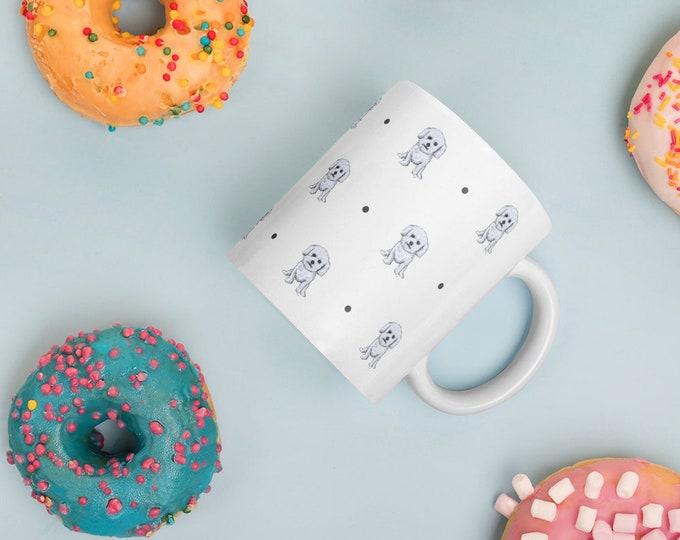 Bichon frise, mug, mug and coaster set, for bichon frise lovers, bichon Frise gift