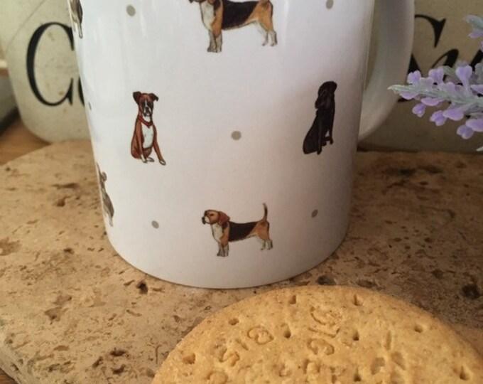 Dog mug, for dog lovers, dog gift, mixed dogs mug