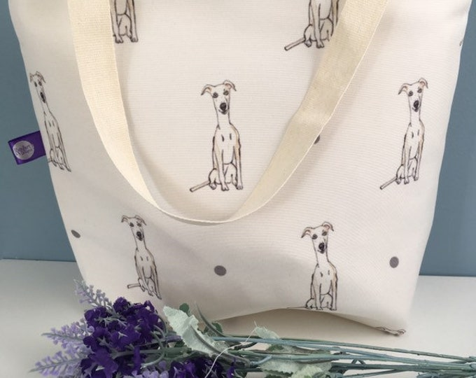 Whippet tote bag, for whippet lovers, whippet gift