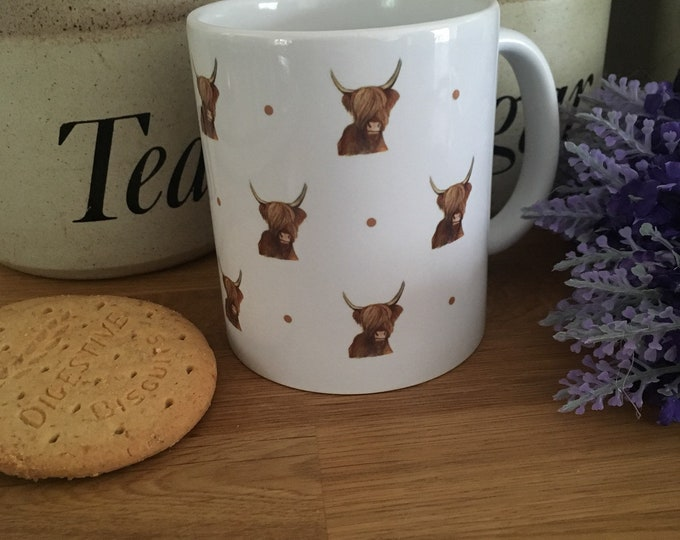 Highland cow , hairy cow,mug, tea mug, for cow lovers , highland cow gift, highland cow mug, mug and coaster set
