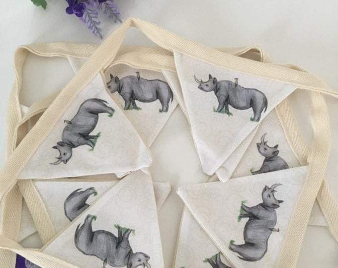 Rhino, rhinoceros, bunting, garland, for rhino lovers, wall decor,  rhino gift