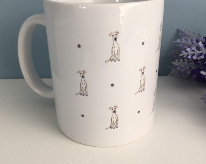 Whippet mug, tea mug, coffee mug, for whippet lovers, whippet gift