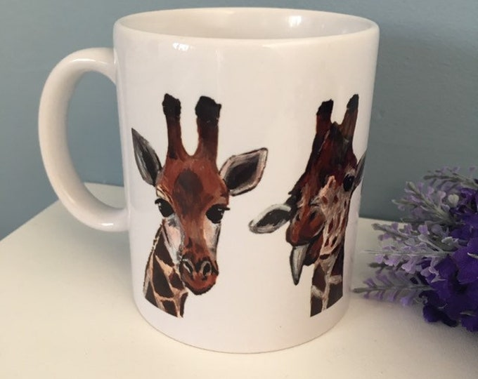 Giraffe mug, coffee mug, tea mug, for giraffe lovers, giraffe gift