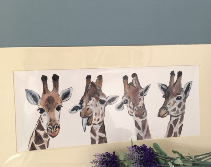 Giraffe print, giraffe artwork, for giraffe lovers, giraffe gift, giraffe decor