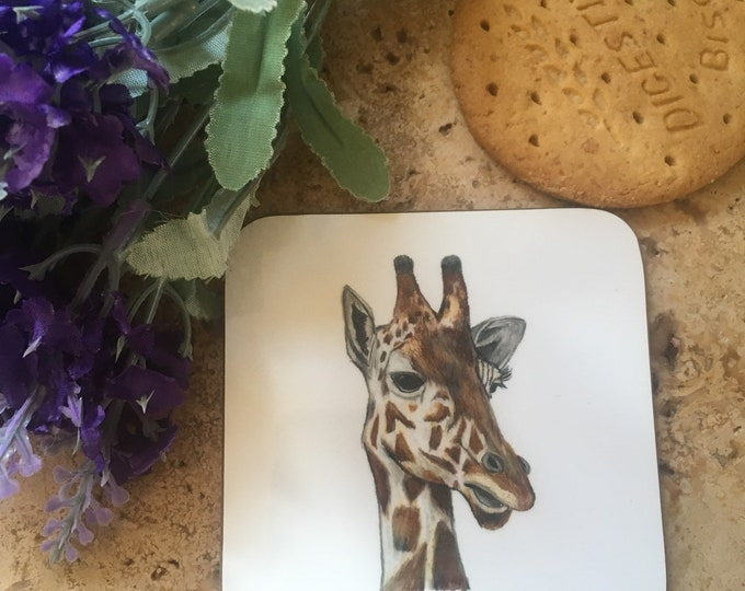 Giraffe coaster, coasters, for giraffe lovers, giraffe gift, giraffe homeware