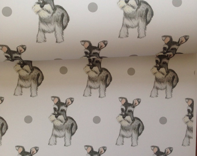 Schnauzer ,wrapping paper ,gift wrap ,for schnauzer lovers, for dog owners, read description