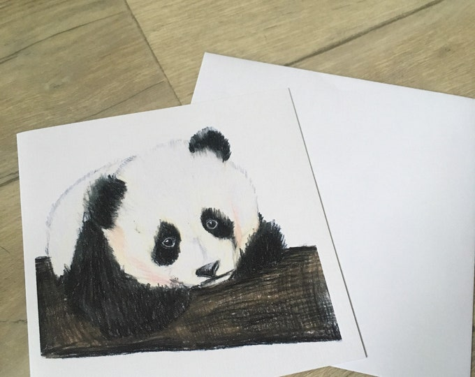 panda card, birthday card, greetings card, for panda lovers, pandas