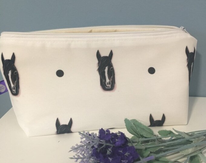 Horse, makeup bag,cosmetics bag, for makeup lovers, for horse lovers, horse gift