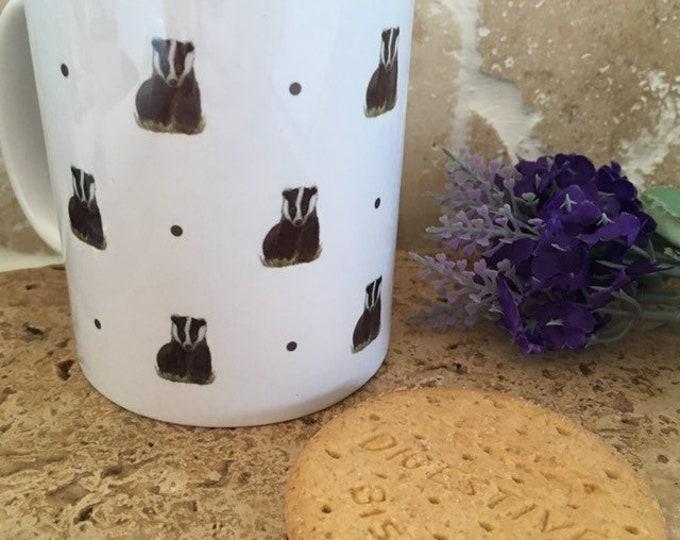 Badger mug, badgers, for badger lovers, badger gift
