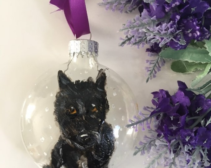 Pet portrait bauble, Christmas bauble, for pet lovers, for pet owners, pet gift