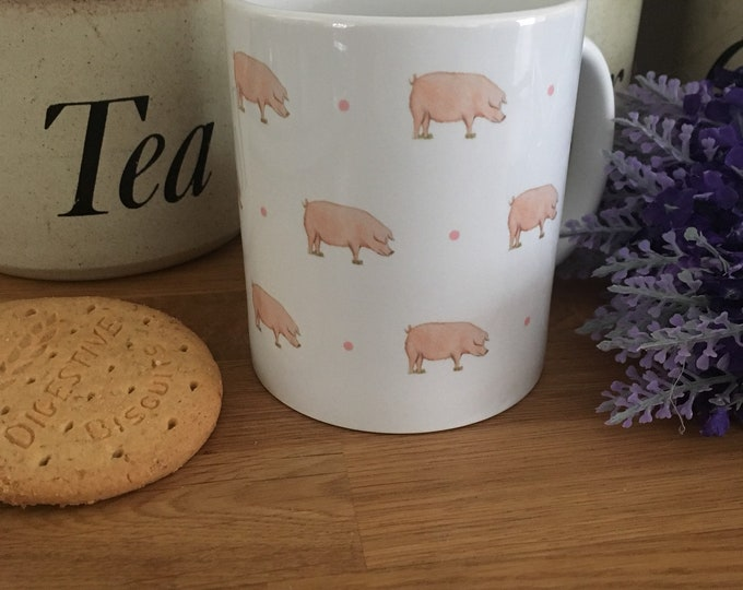 Pig, pigs, mug, for pig lovers, for pig farmers, pig gift, pig wrapping paper