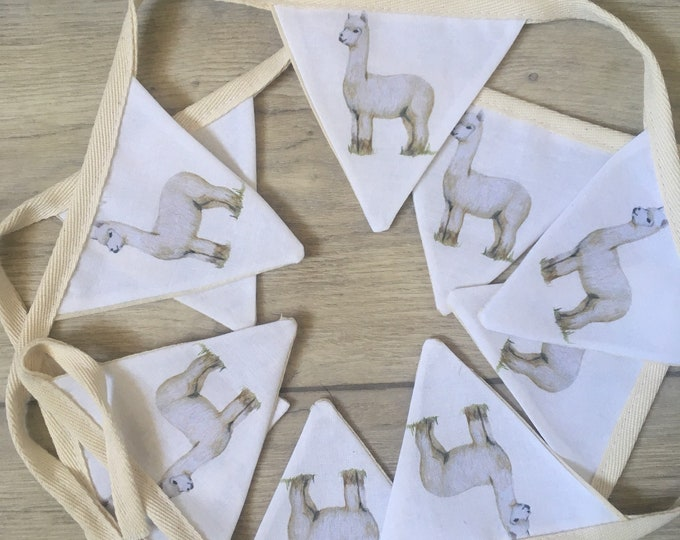 Alpaca, bunting, garland, for alpaca lovers, alpaca gift , alpaca decor