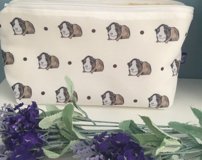 Guinea makeup bag, Cosmetics bag, for guinea pig lovers, guinea pig gift
