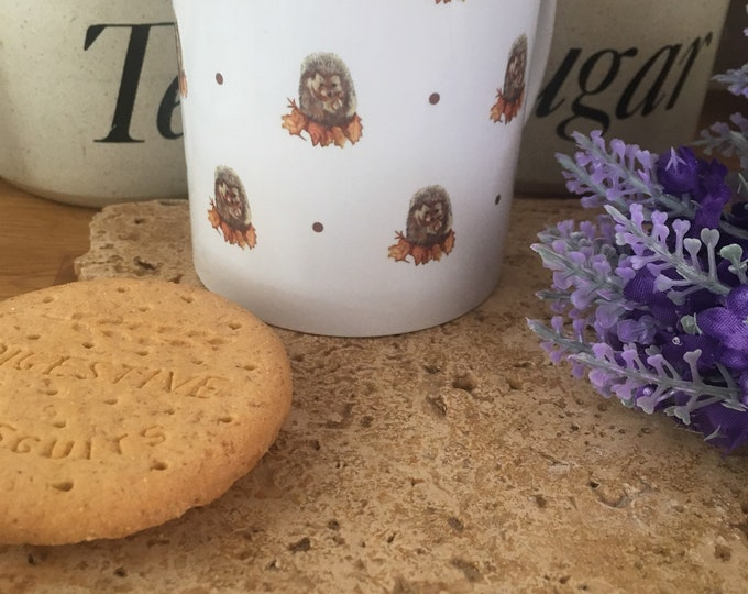 Hedgehog, hedgehogs, mug, tea mug, for hedgehog lovers, hedgehog gift, hedgehog mug, mug and coaster set