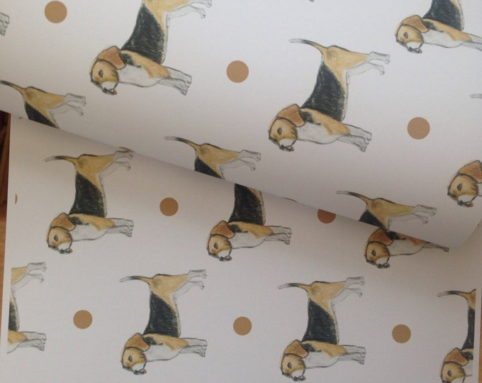 Beagle, wrapping paper , gift wrap, for beagle lovers, for dog owners, Beagles, read description