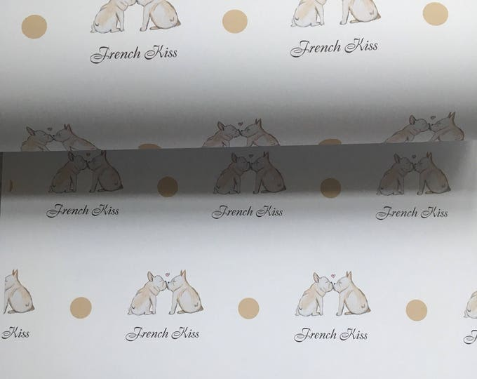 Frenchie, french bulldog, valentines paper, wrapping paper, gift wrap, for frenchie lovers, read description