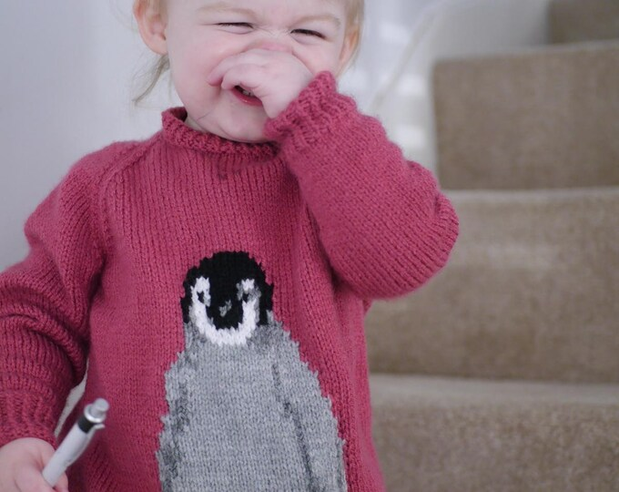 Penguin knitting pattern, for jumpers, for penguin lovers, baby penguin, penguin gift
