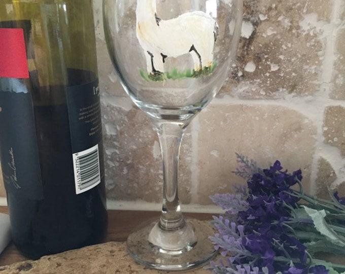 Alpaca wine glass, for alpaca lovers, for wine lovers, alpaca gift