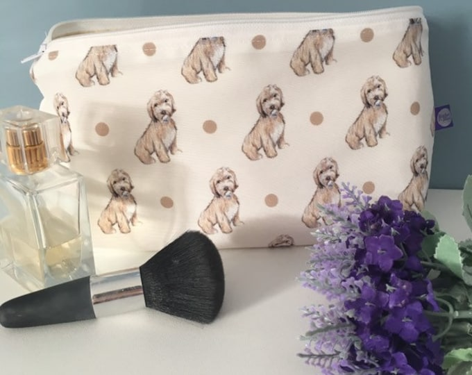 Cockapoo, cockapoos, makeup bag, cosmetics bag, for cockapoo lovers, for dog lovers, cockapoo gift