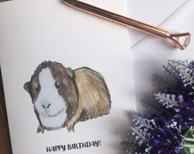 Guinea pig, birthday card, greetings card, for guinea pig lovers, guinea pig gift