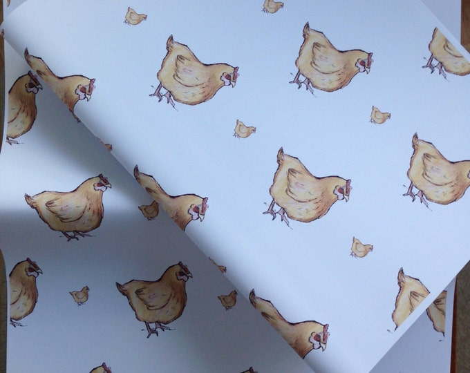 Chicken wrapping paper, gift wrap, for chicken lovers, chickens, read description
