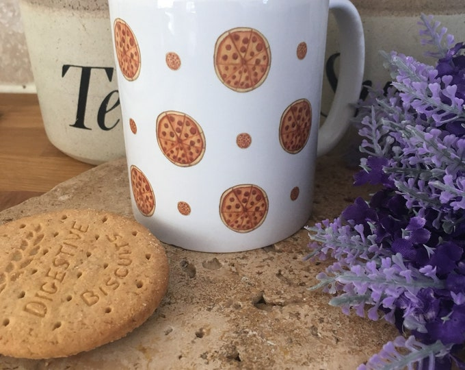Pizza mug, for pizza lovers, pizza gift, for food lovers, novelty pizza mugs