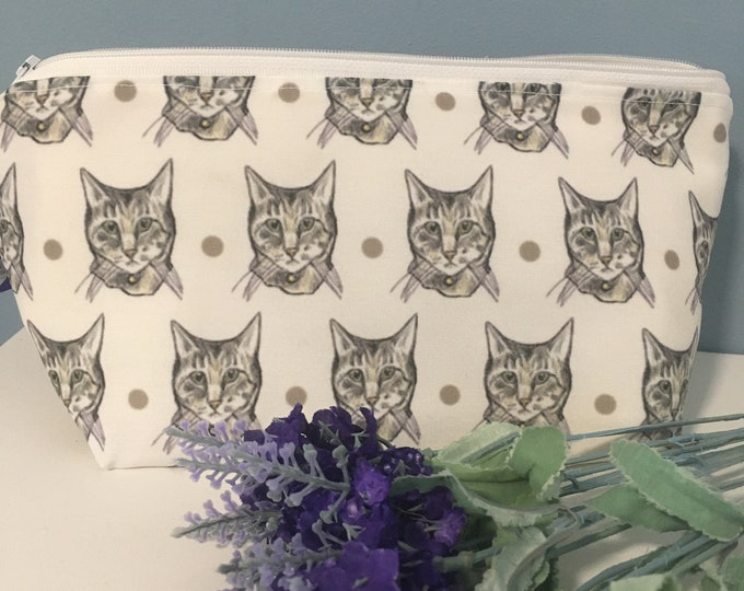 Cat, makeup bag, cosmetics bag, storage bag, for cat lovers, cat gift, kitty gift