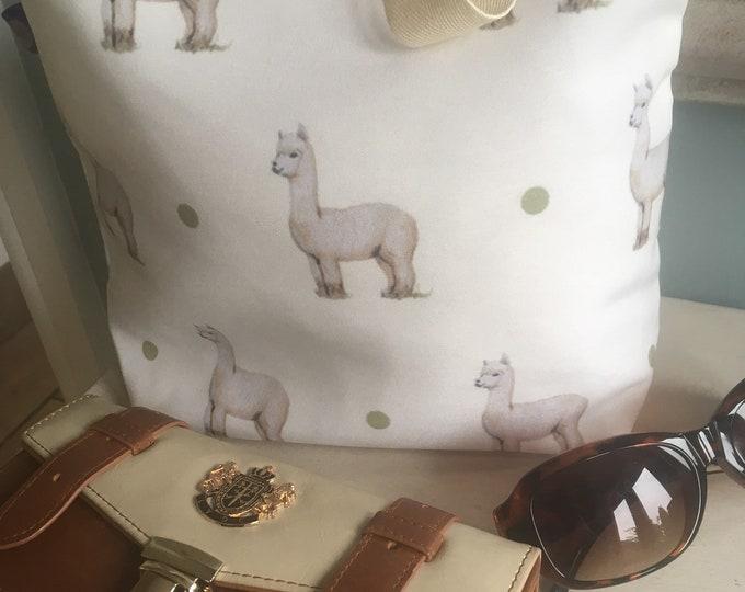 Alpaca bag, alpaca tote bag, for alpaca lovers, alpaca gift