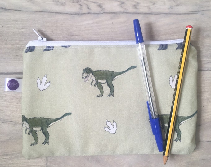 Dinosaur, case, pencil case, for dinosaur lovers, dinosaur gift, back to school, pencil storage
