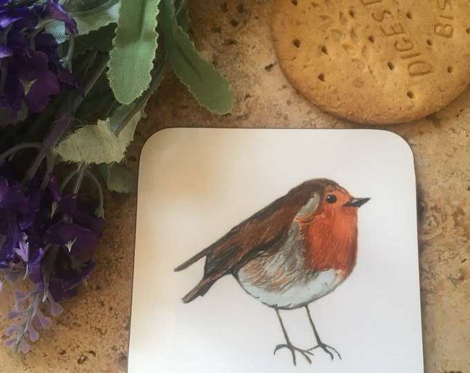 Robin coaster, robin coasters, for robin lovers, robin gift, robin homeware