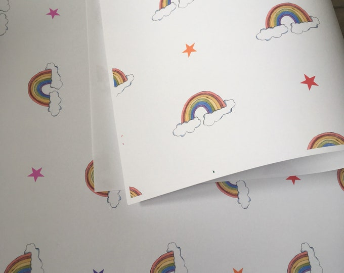 Rainbow wrapping paper , gift wrap, for rainbow lovers, rainbows, for gay weddings, read description