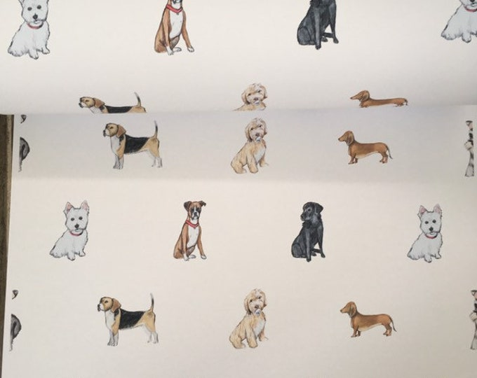 Dog wrapping paper , gift wrap, for dog lovers, dog gift, read sizes