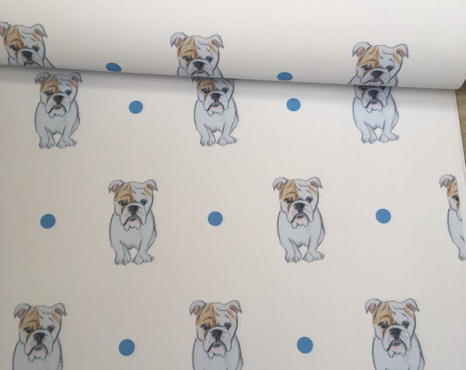 English bulldog, british bulldog, wrapping paper, gift wrap, for bulldog lovers, bulldog gift, read description