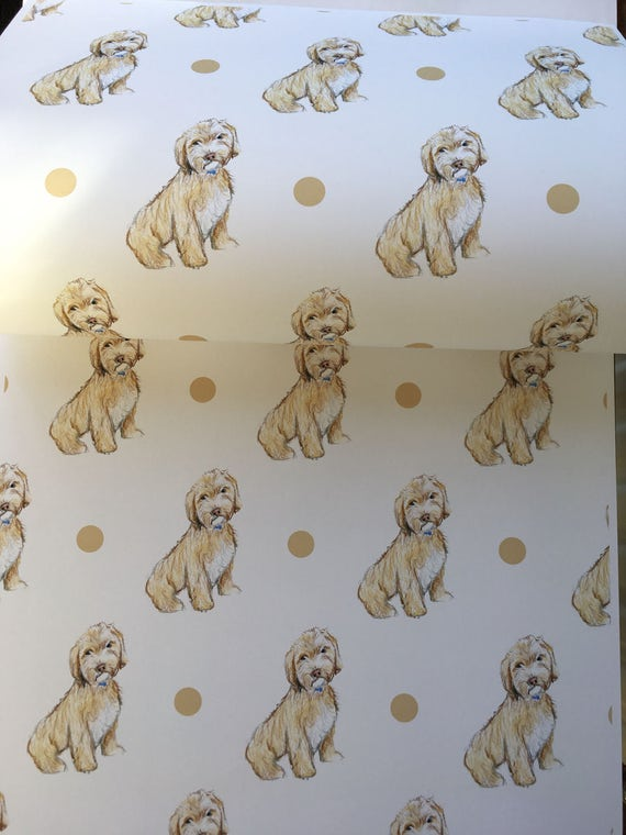 Arty Penguin Birthday Quality NEW Cockapoo Dog Wrapping Paper Sheets /& Tags