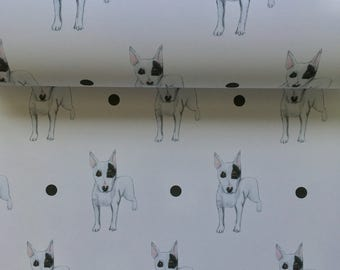 Bull terrier ,english bull terrier wrapping paper, gift wrap, for dog lovers , for english bull terrier lovers, read description