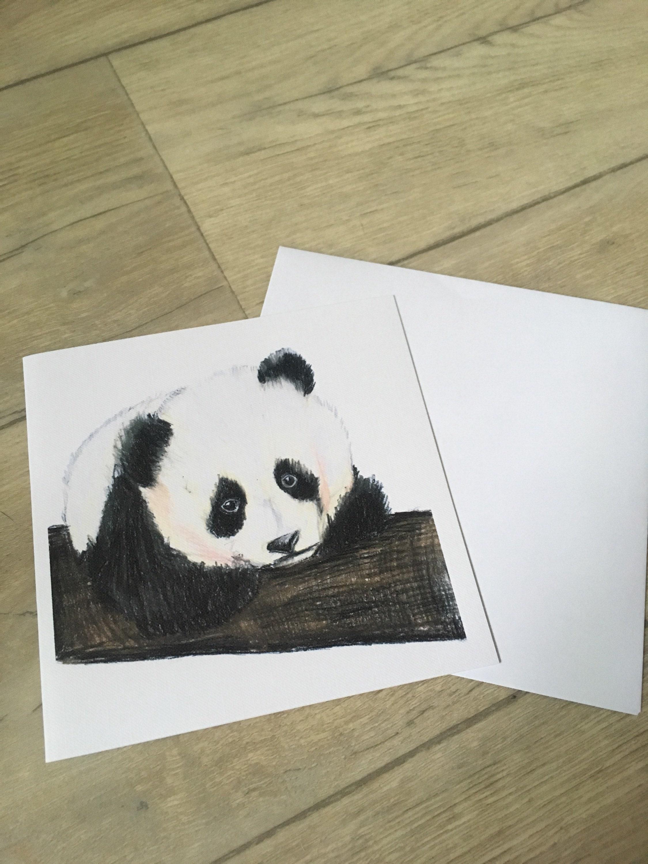 Panda Card Birthday Card Greetings Card For Panda Lovers Pandas