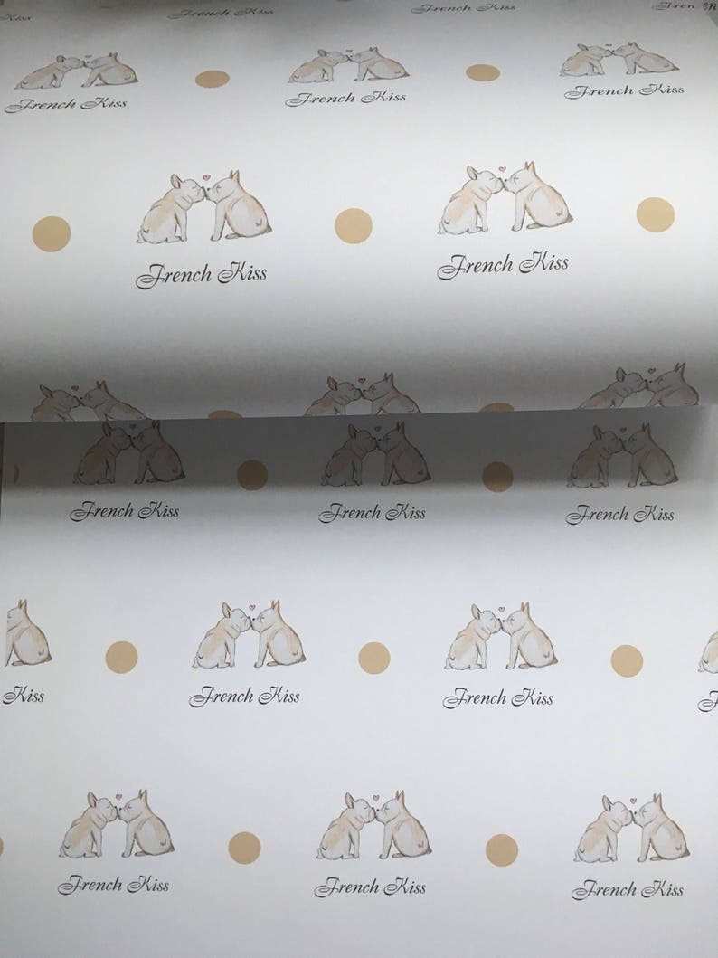 gift wrap for frenchie lovers french bulldog wrapping paper Frenchie read description valentines paper