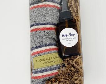 Magic Sleep Spray and Herbal Eye Pillow Gift Set