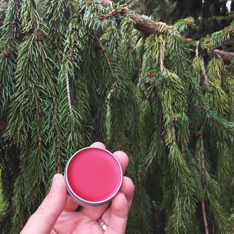Tinted Lip Balm Red Rose Rouge Herbal Infused Sheer Lip image 0