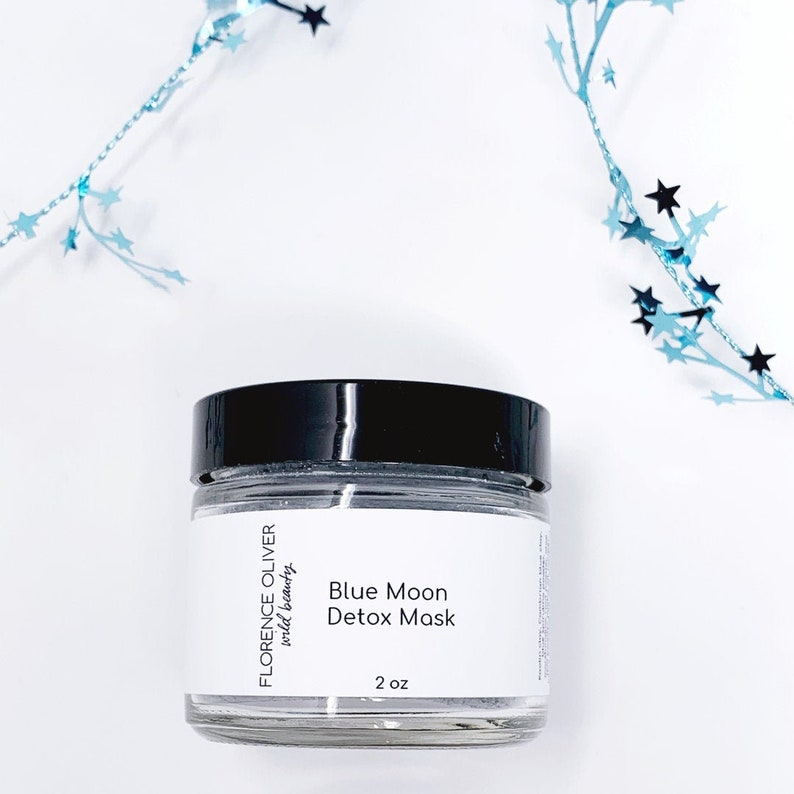Clay Face Mask Detox Mask Blue Moon Cambrian Blue Clay image 0