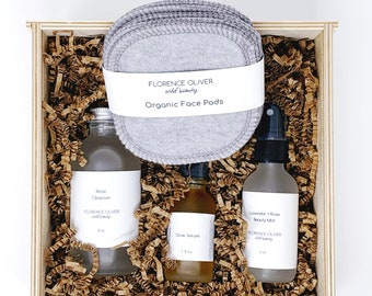 Ultimate Face Kit Gift Box, Mother's Day Gift, Wooden Gift Box