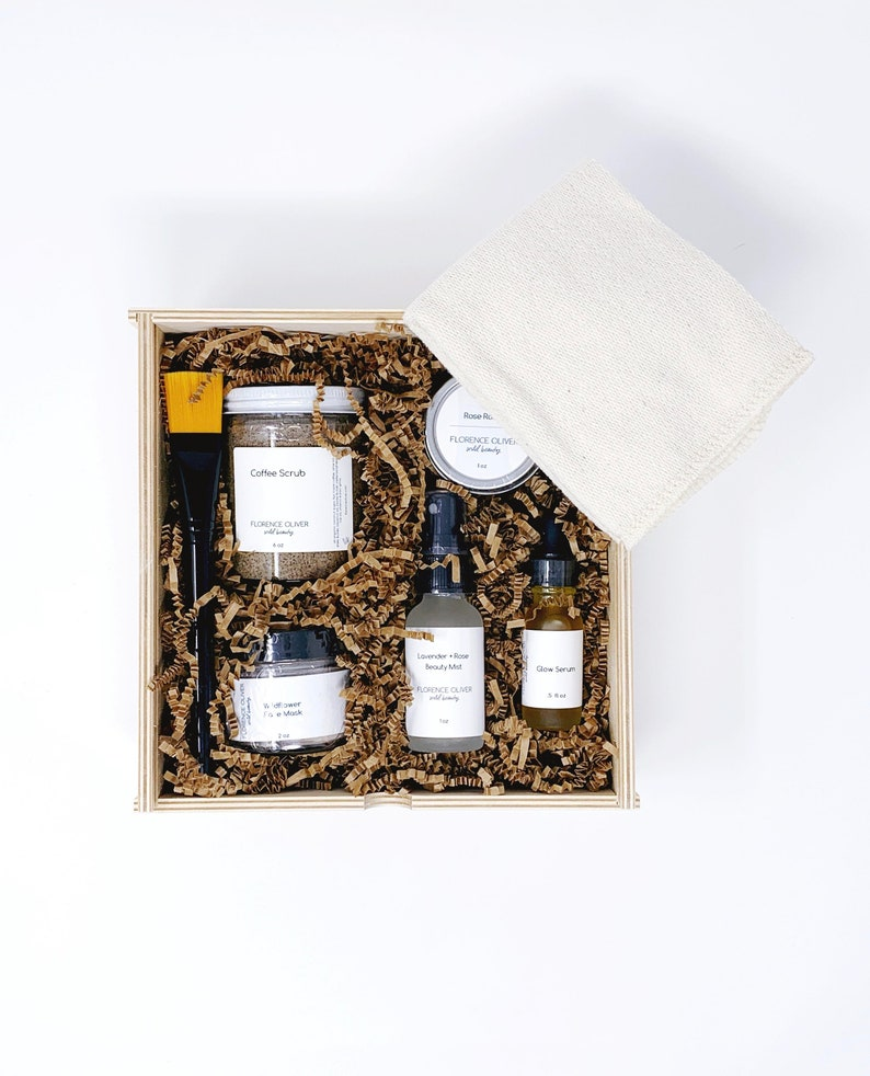 Spa Day Gift Box Mother's Day Gift Wooden Gift Box image 0