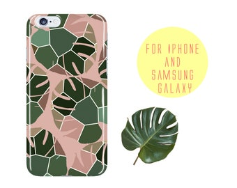 Abstract Samsung Galaxy S8 Geometric Pattern Samsung Galaxy S7 Edge Case Lavender iPhone 7 Case Lilac iPhone X Case Palm Leaf iPhone 8 Case