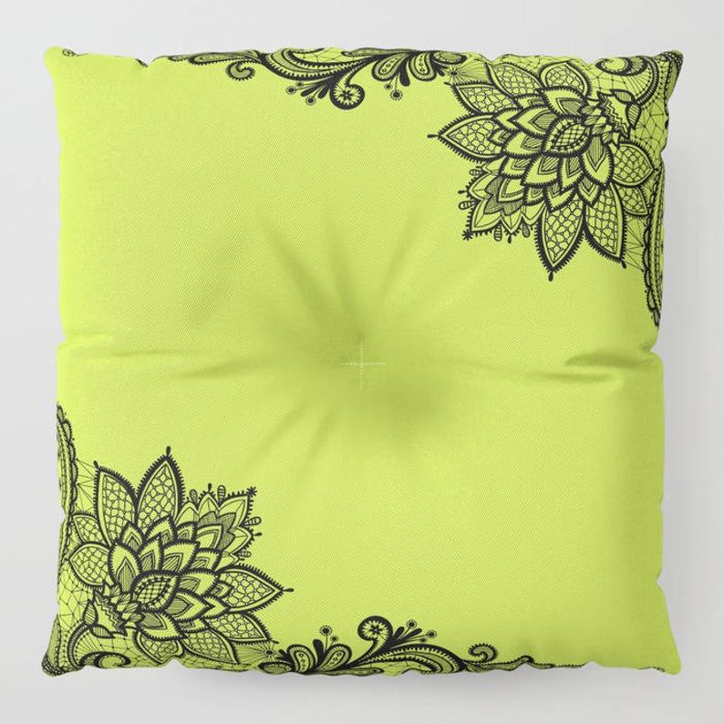 Large Meditation Cushion Bark Floor Seating 30 Pouff Ottoman Cushion Round Floor Pillow 26 Round Chair Cushions Cactus Donut Chair