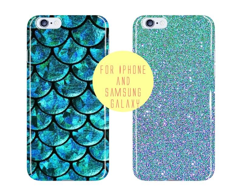 finest selection ecfdf dcbc7 Fish Scale Case Samsung Galaxy S7 Edge Case Blue Sea Samsung Galaxy S8 Plus  Case iPhone 8 Plus Case Turquoise Mermaid iPhone X Case Phone