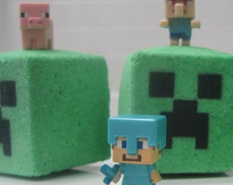 MINEBOMS - Bath Bombs with Characters  Inside